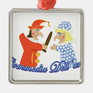 Commedia Dellarte Metal Ornament