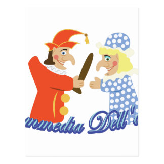 Commedia Dellarte Postcard