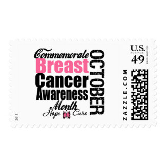 Commemorate Breast Cancer Awareness Month Postage Stamp