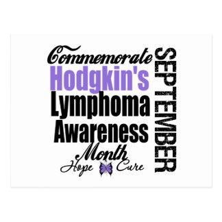 Commemorate Hodgkins Lymphoma  Awareness Month Postcard