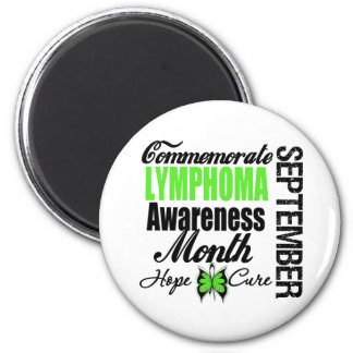 Commemorate Lymphoma  Awareness Month 2 Inch Round Magnet