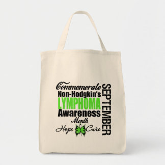 Commemorate Non Hodgkins Lymphoma  Awareness Month Grocery Tote Bag