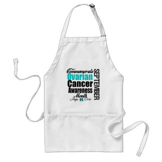 Commemorate Ovarian Cancer Awareness Month Aprons