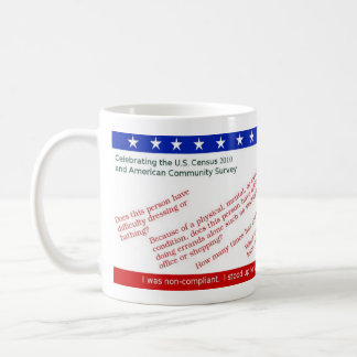 Commemorate Your 2010 U.S. Census Resistance Coffee Mugs