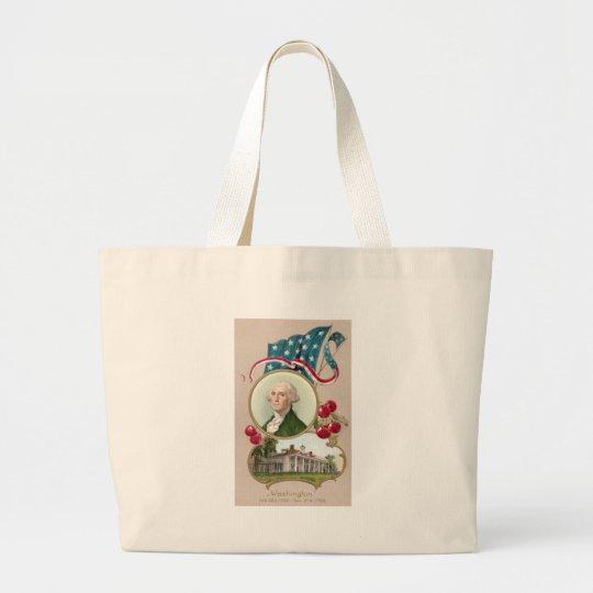 Commemorating George Washington Large Tote Bag