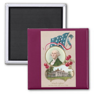Commemorating George Washington 2 Inch Square Magnet
