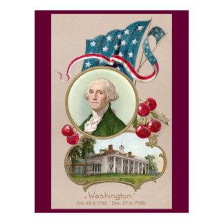 Commemorating George Washington Postcard