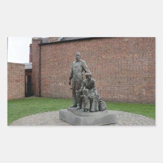 Commemoration of the Liverpool Emigrants Rectangular Sticker