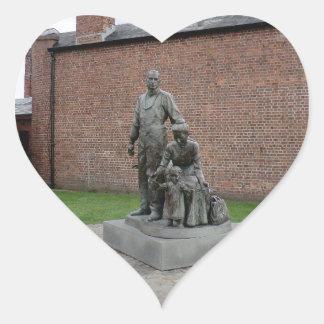 Commemoration of the Liverpool Emigrants Heart Sticker