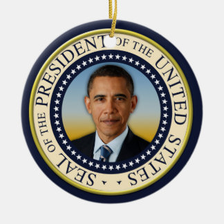 Commemorative 45th President Barack Obama Ceramic Ornament