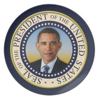 Commemorative 45th President Barack Obama Dinner Plate