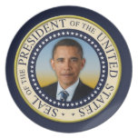 Commemorative 45th President Barack Obama Dinner Plates