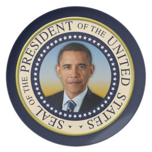 Commemorative 45th President Barack Obama Dinner Plates