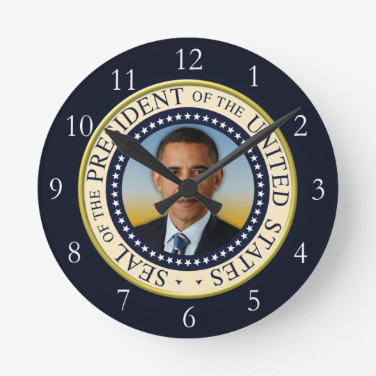 Commemorative 45th President Barack Obama Round Clock
