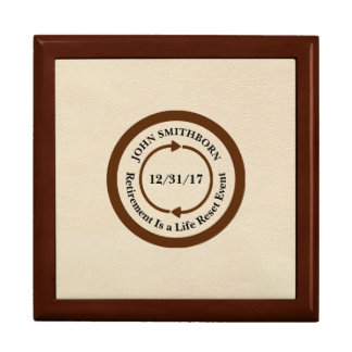 Commemorative Brown on Cream Retirement Keepsake Box