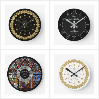 Commemorative Clocks for Priests