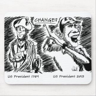 Commemorative Mouse Pad Obama and Washington