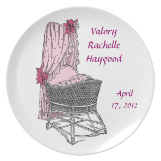 Commemorative New Baby Pink Plate