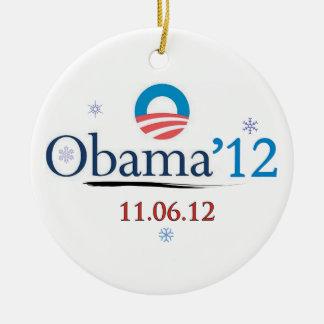 Commemorative Obama 2012 Christmas Ornament