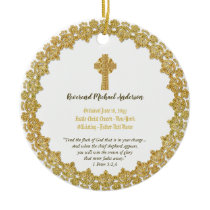Commemorative ORDINATION gift Priest Pastor Deacon Ceramic Ornament