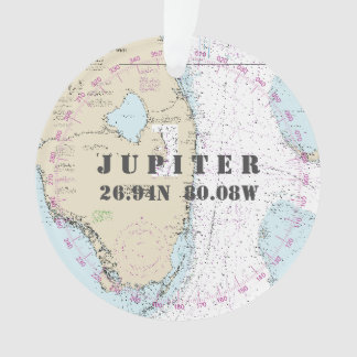 Commemorative Photo Nautical 2-Sided Jupiter FL Ornament