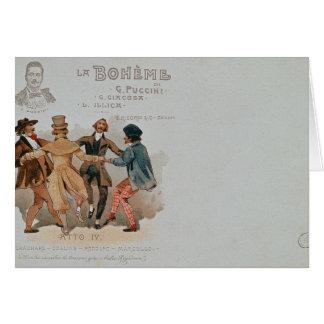 Commemorative Postcard of the opera 'La Greeting Card