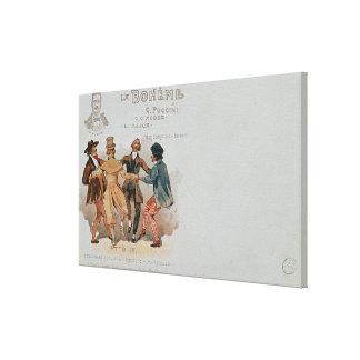 Commemorative Postcard of the opera 'La Gallery Wrap Canvas