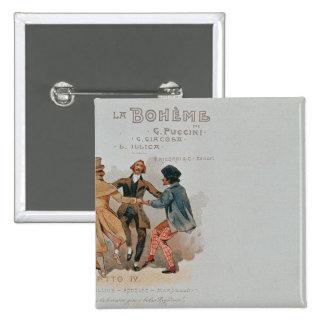 Commemorative Postcard of the opera 'La Pinback Button