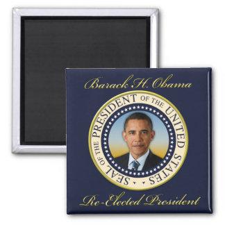 Commemorative President Barack Obama Re-Election 2 Inch Square Magnet