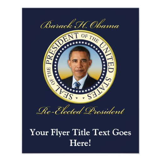 "Commemorative President Barack Obama Re-Election 4.5"" X 5.6"" Flyer"