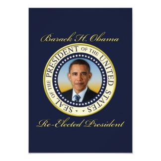 Commemorative President Barack Obama Re-Election 5x7 Paper Invitation Card
