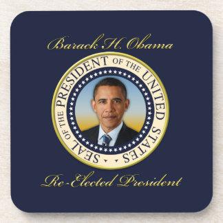 Commemorative President Barack Obama Re-Election Beverage Coaster