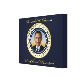 Commemorative President Barack Obama Re-Election Stretched Canvas Print