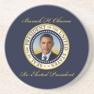 Commemorative President Barack Obama Re-Election Drink Coaster