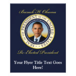 Commemorative President Barack Obama Re-Election Personalized Flyer