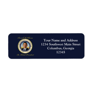 Commemorative President Barack Obama Re-Election Label