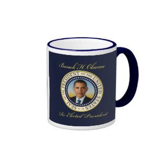 Commemorative President Barack Obama Re-Election Ringer Coffee Mug