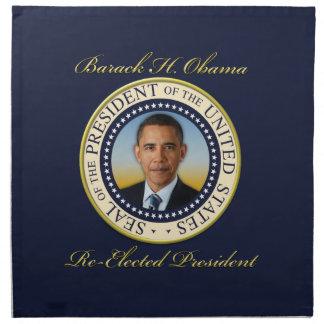 Commemorative President Barack Obama Re-Election Printed Napkin