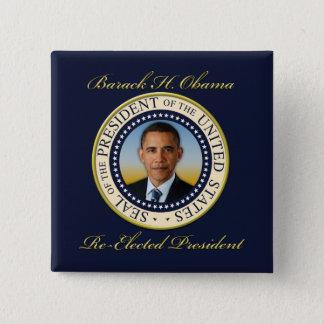 Commemorative President Barack Obama Re-Election Pinback Button
