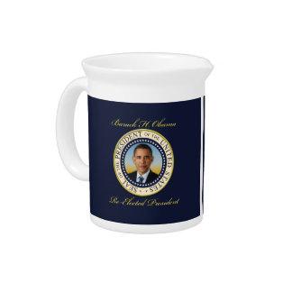 Commemorative President Barack Obama Re-Election Beverage Pitchers