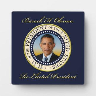 Commemorative President Barack Obama Re-Election Plaque