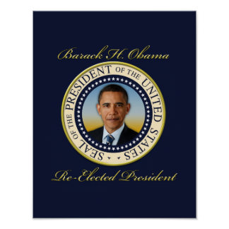 Commemorative President Barack Obama Re-Election Poster