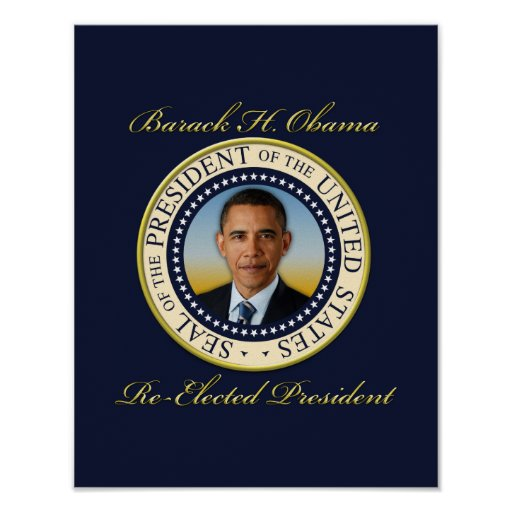 Commemorative President Barack Obama Re-Election Poster