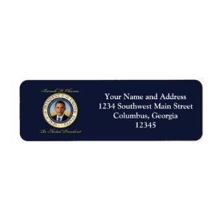 Commemorative President Barack Obama Re-Election Return Address Label