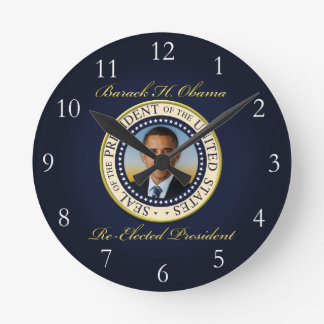 Commemorative President Barack Obama Re-Election Round Clock