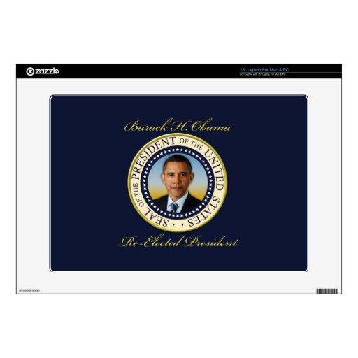 """Commemorative President Barack Obama Re-Election 15"""" Laptop Skins"""