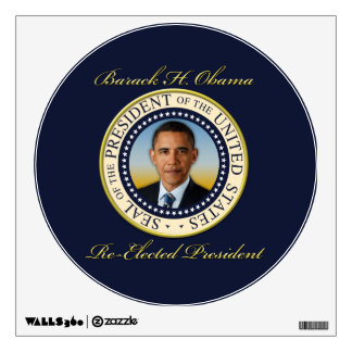 Commemorative President Barack Obama Re-Election Wall Sticker