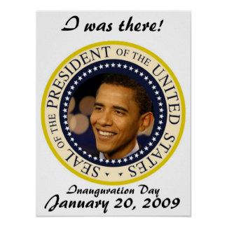Commemorative President Obama Inauguration Poster