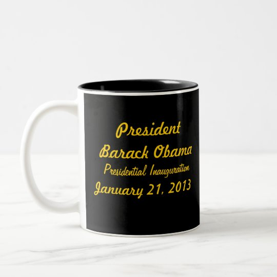 Commemorative President Obama Inauguration Two-Tone Coffee Mug
