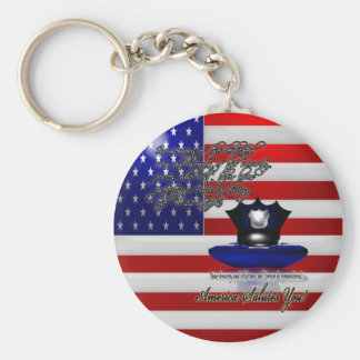 Commemorative September 11th World Trade Centre At Basic Round Button Keychain